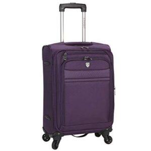 AmazonBasics Expandable Softside Carry-On Spinner Luggage Suitcase 20.4 Inch