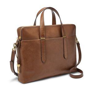 Women Leather Briefcase bag Laptop Tote Handbags